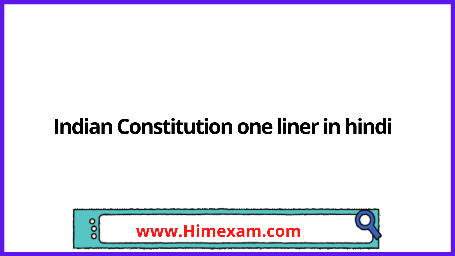 Indian Constitution one liner in hindi