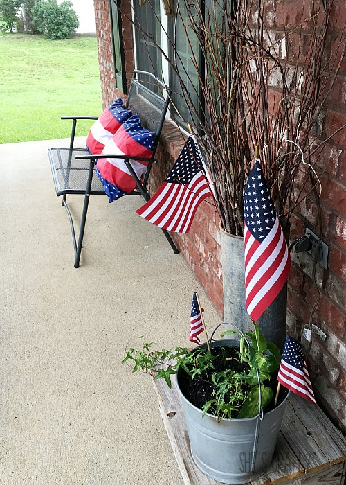how to add patriotic flair to porch