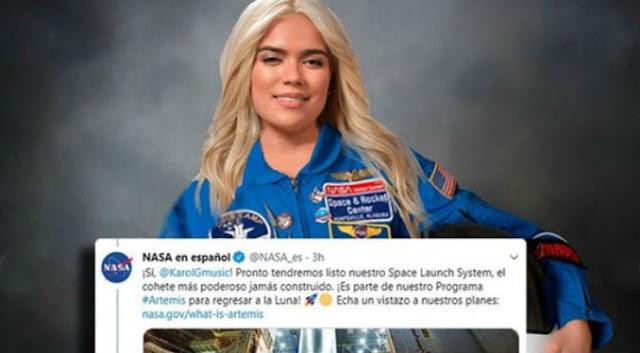 Karol G dijo que llegaría a la luna por Anuel AA y la Nasa le respondió Agencias