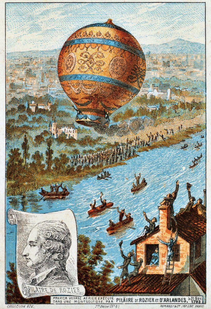 The first untethered balloon flight,