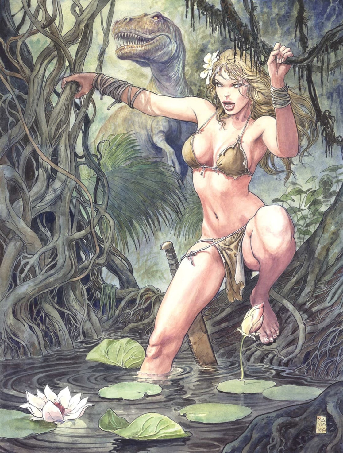 Shanna returns to Africa to look for her father, and learns he was killed by the Mandrill.