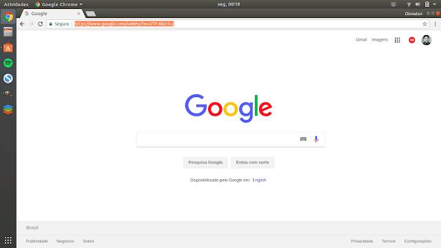 Botões de controle do Chrome no Ubuntu