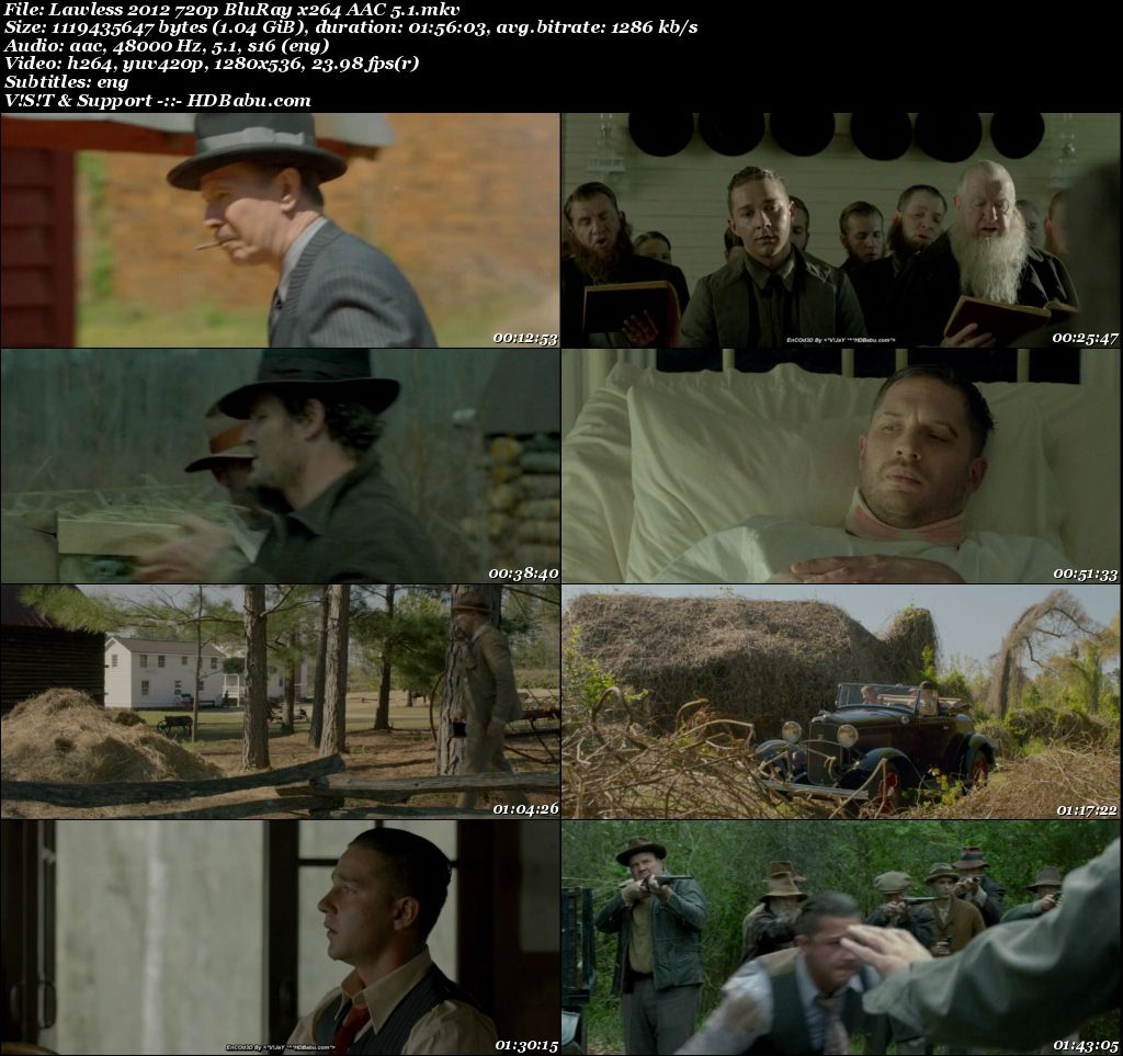 Lawless (2012) English 720p BluRay x264 AAC 5.1