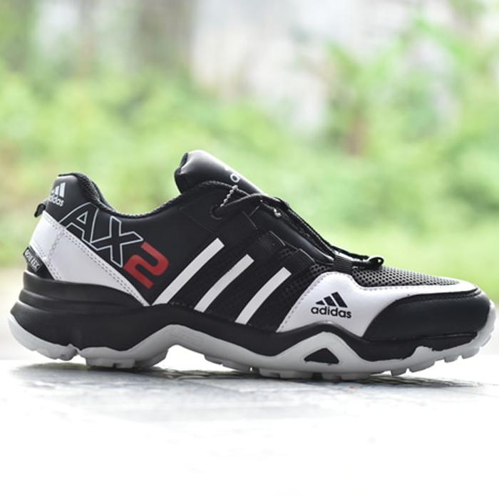 Sepatu Sport Adidas AX2 Hitam Putih [ADAX001] | Omsepatu.com