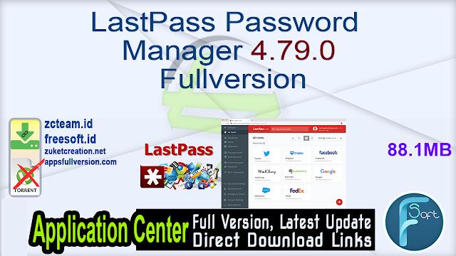 LastPass Password Manager 4.79.0 Fullversion