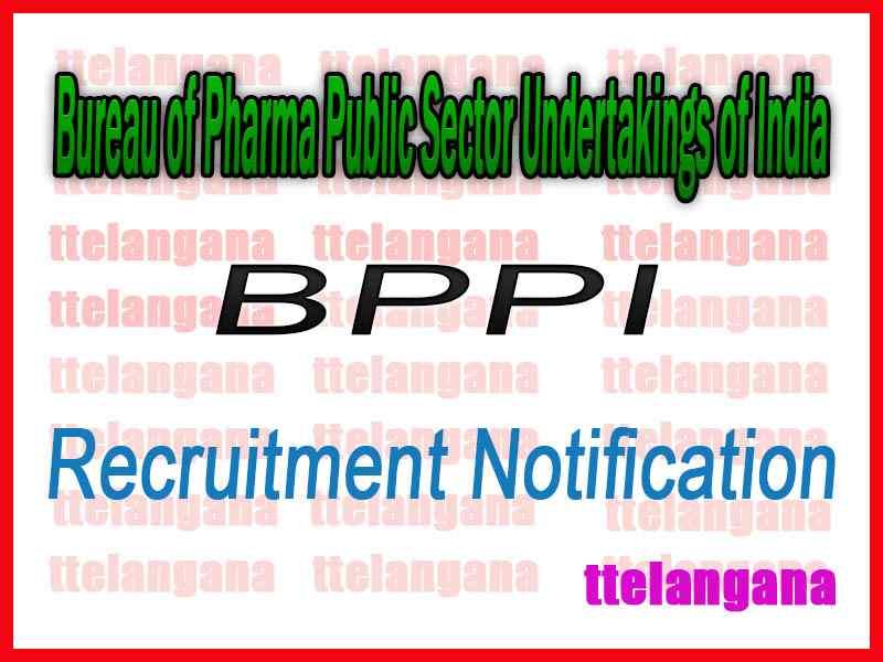 Bureau of Pharma Public Sector Undertakings of India BPPI Recruitment Notification