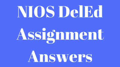 NIOS DelEd Assignment Answers