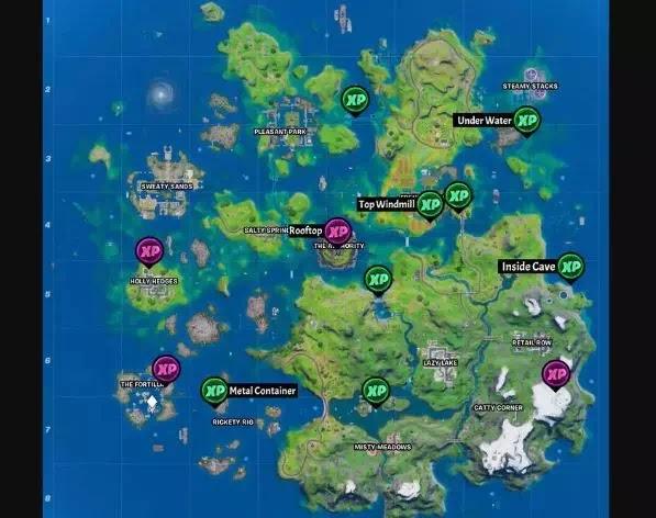 Letak Semua lokasi XP Coin di Fortnite Chapter 2 Season 3-1