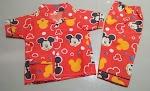 Jual Baju Tidur Anak Bahan Katun Usia 1 Tahun Mickey Mouse Merah