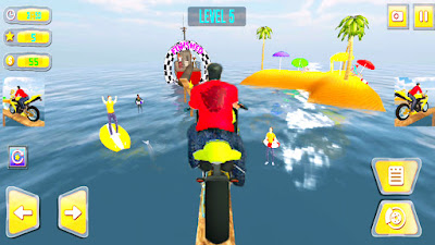 Water Track Stunt  Bike Rider - Moto Racing Games APK Dwonload | Bike Wala Game