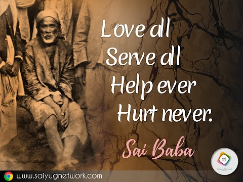 Love All - Sai Baba Original Picture Painting