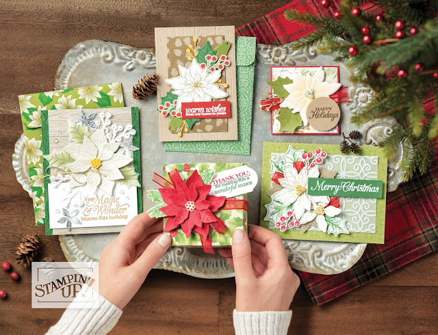 christmas, poinsettia place suite, poinsettia place ideas stampin' up!, holiday mini catalog, paper crafts, stamping, craft supplies, stampin' up! demonstrator