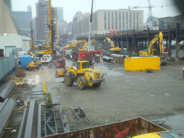 Picture of the construction machines on the site
