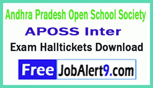 Andhra Pradesh Open School Society APOSS Inter Exam Hall Tickets