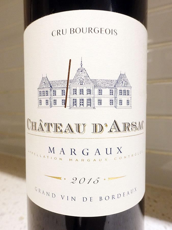 Château d'Arsac 2015 (91 pts)