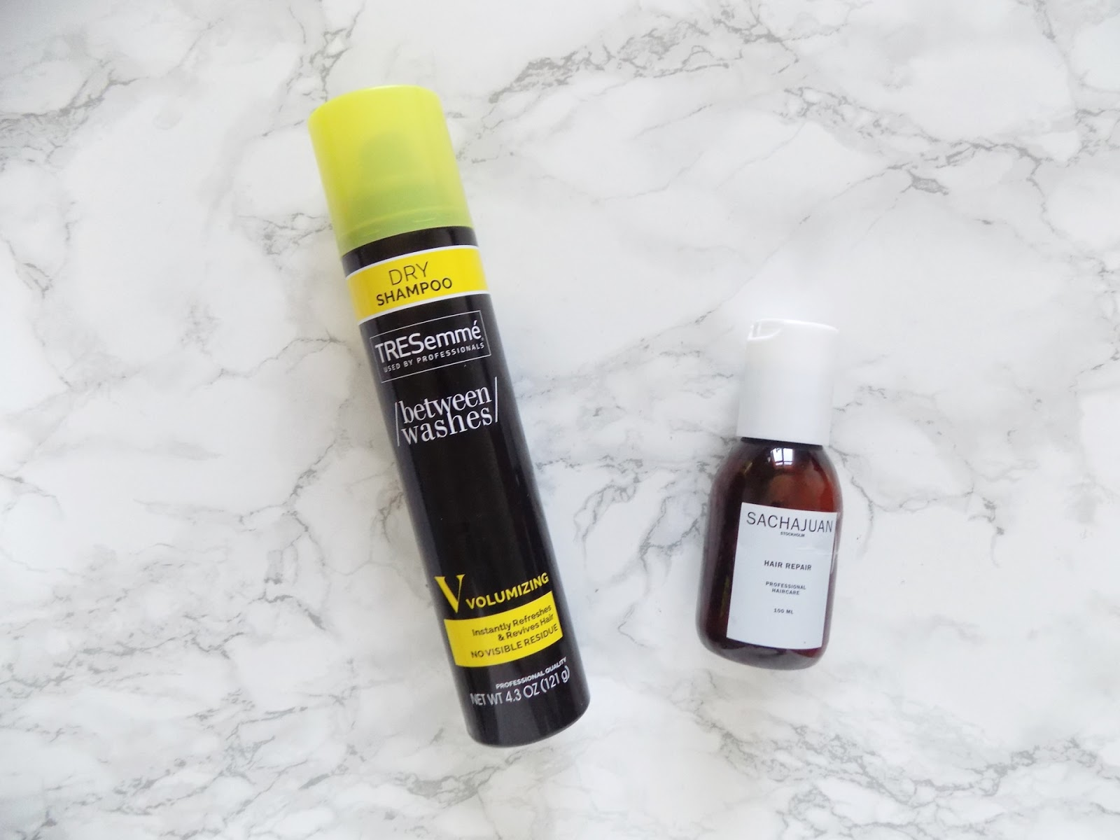 haircare empties tresemme sachajuan