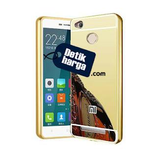 Calandiva Xiaomi Redmi Note 3 Mirror Back case with Metal Bumper - Gold
