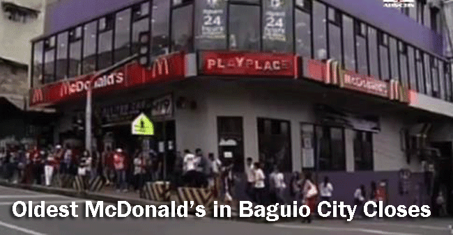 The Oldest McDonald's in Baguio City Closes