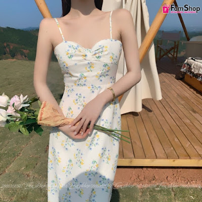 Váy maxi đi biển V398