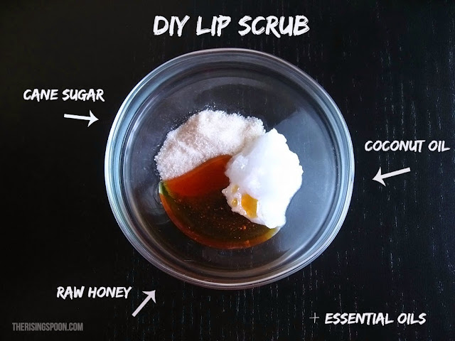 15 ways to use coconut oil in your home: Lip Scrub