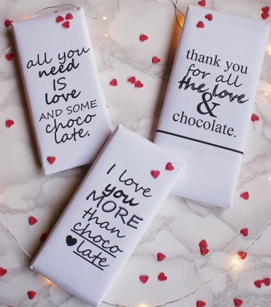 With free and easy printables, making these personalized candy bars are a fun way to express your love.