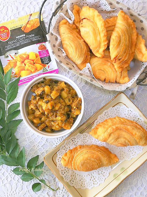 Spiral Curry Puff (Nonya Curry Chicken & Potato)