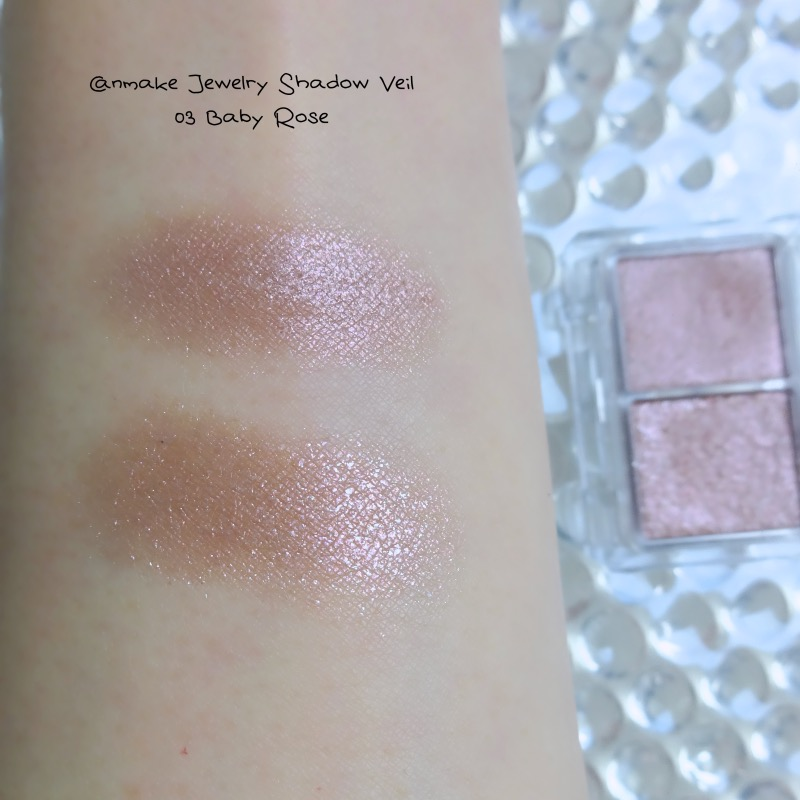 Canmake Jewelry Shadow Veil 03 Baby Rose swatch