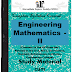 Engineering Mathematics - II PDF Study Materials cum Notes, Engineering E-Books Free Download