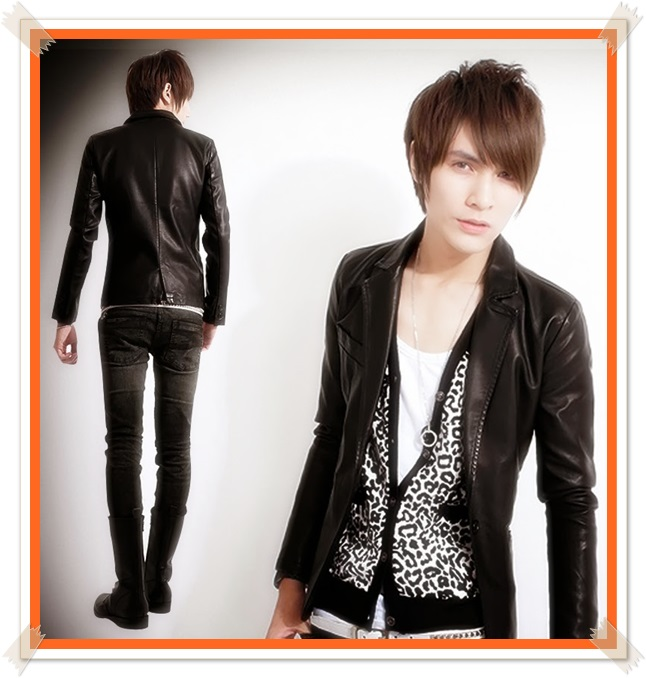 model jaket kulit korea pria terkini