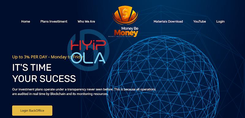 [SCAM] Review MoneyBeMoney - Dự án MLM hấp dẫn lãi trung bình 1% hằng ngày cho đến khi đạt ROI 300%