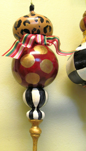 large animal print dotted handmade ornament