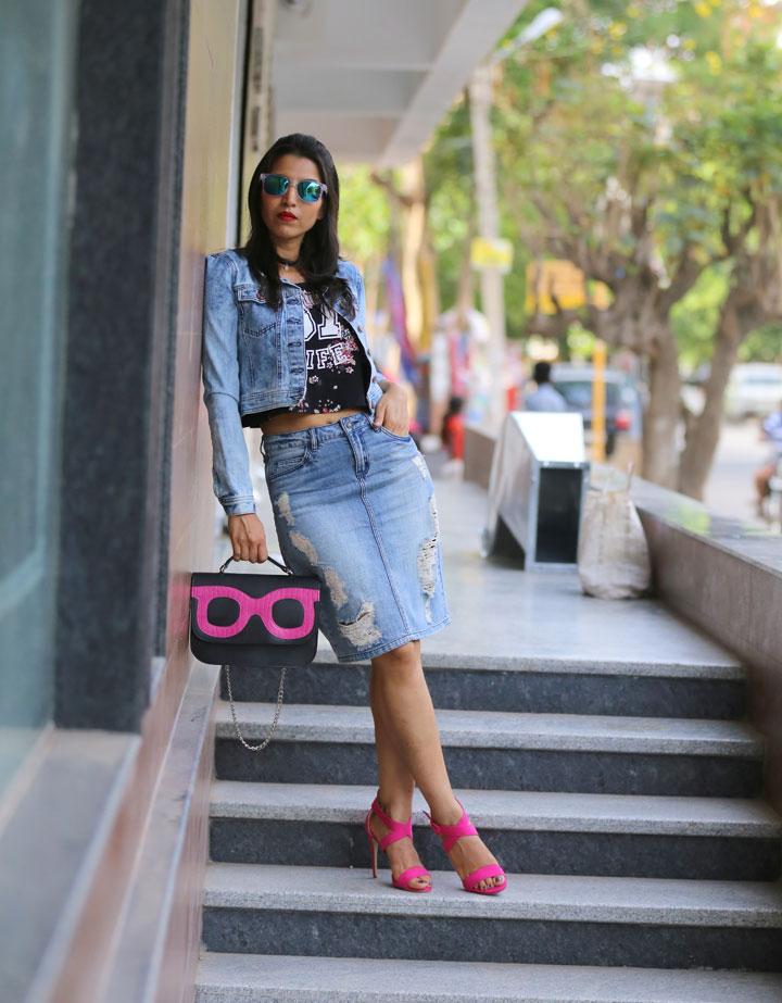 fresh ways to wear a denim skirt fashion stylish by