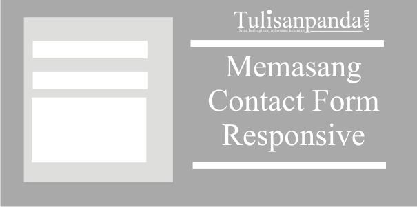 formulir kontak ringan dan responsive