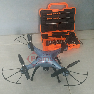Bagaimana cara bongkar dan lepas casing drone syma X5HW - pramud.com