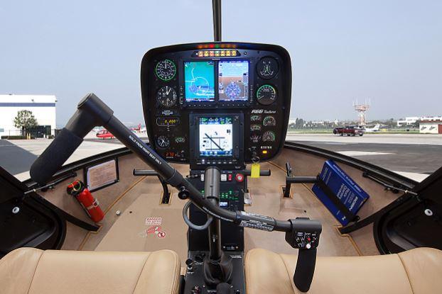 Robinson R66 Turbine cockpit