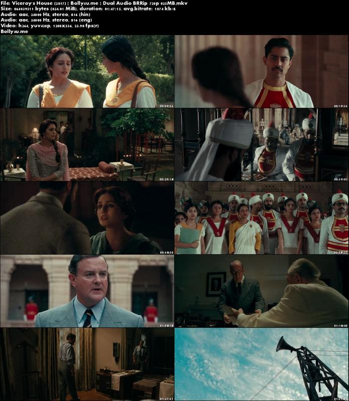 Viceroy's House 2017 BRRip 350MB Hindi Dual Audio 480p Download