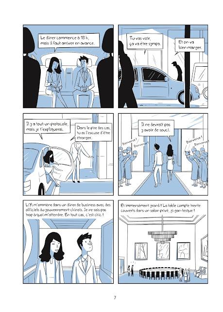"""page de """"Bienvenue en Chine"""" de Milad Nouri et Tian-You Zheng chez Delcourt"""