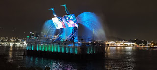 La Isla de Sentosa o Sentosa Island. Crane Dance. Singapur o Singapore.