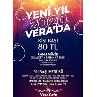 Kayseri Mahallesi Vera Cafe Yılbaşı Programı 2020 Menüsü