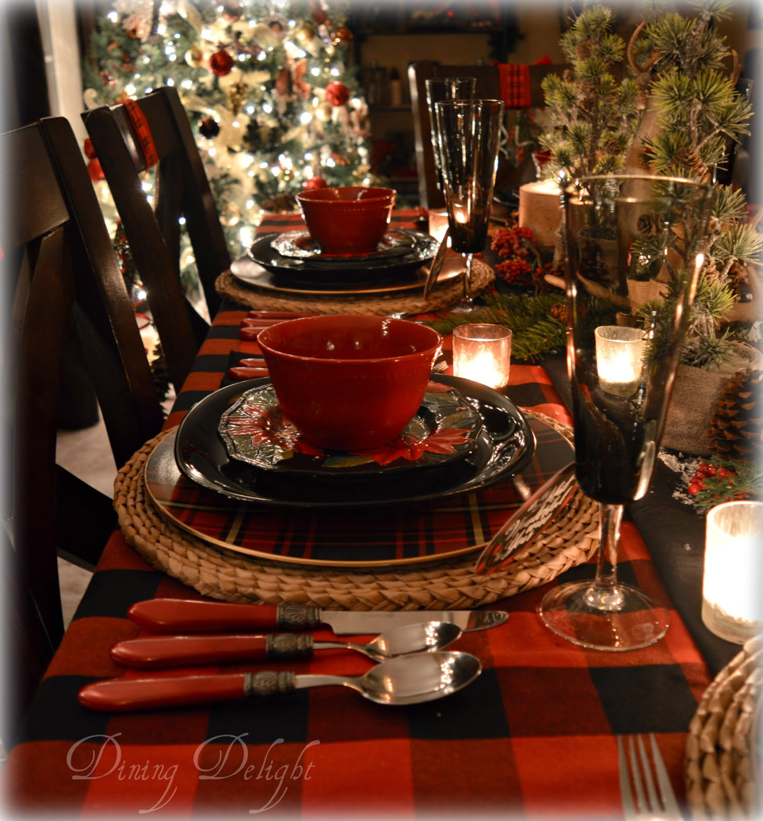 Canadian Lodge Christmas Table