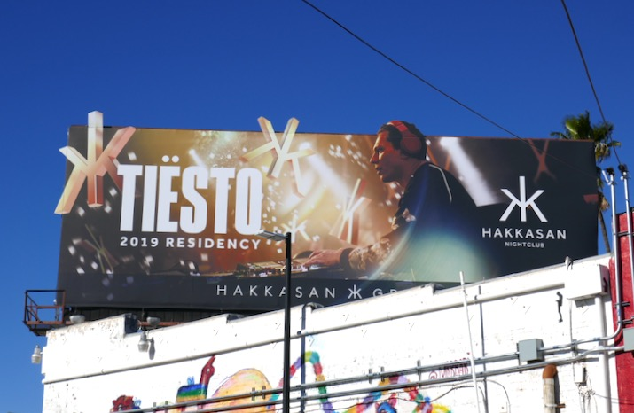 Tiesto Hakkasan 2019 residency billboard