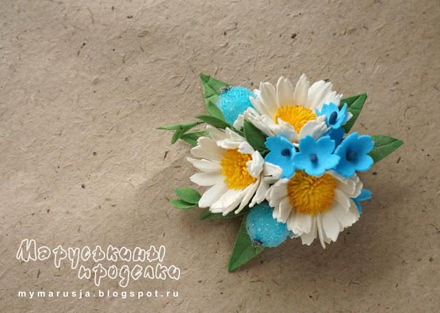 заколки с цветами из фоамирана