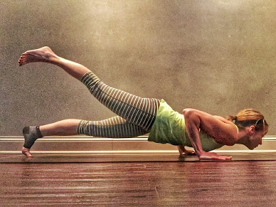 one legged chaturanga