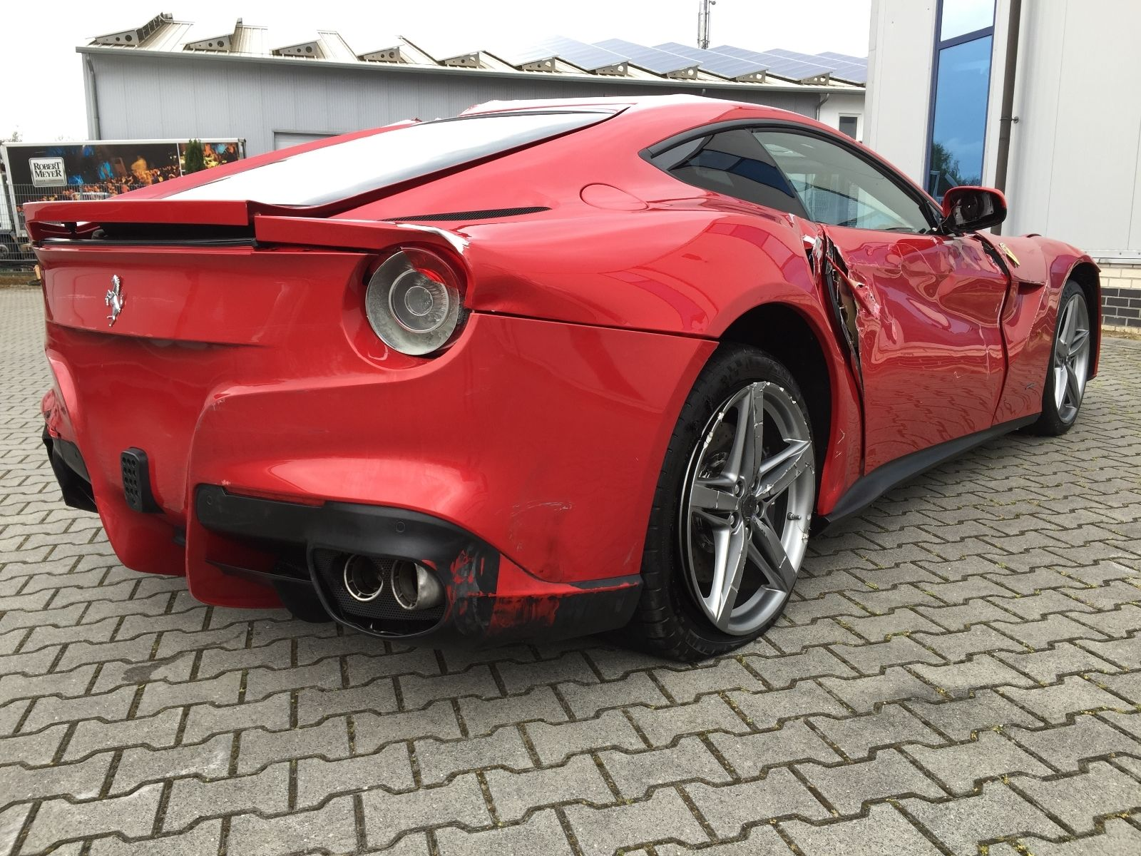 What Would You Do With A Trashed Ferrari F12 Berlinetta