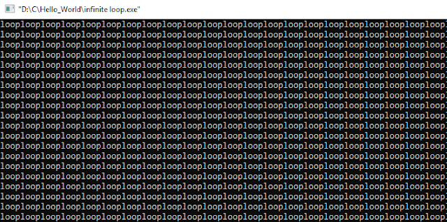 Infinite Loop - C Programming Examples
