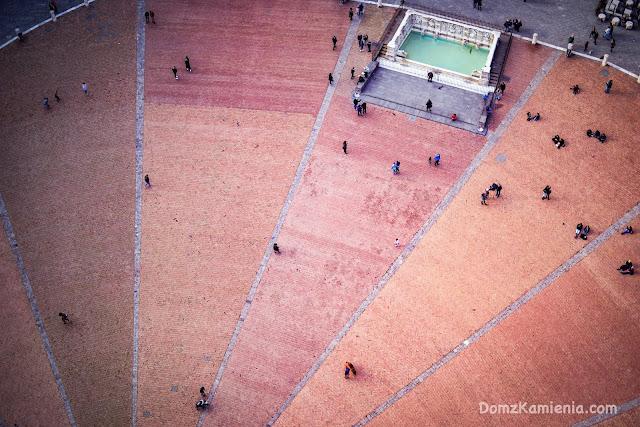La piazza del Campo dall'alto