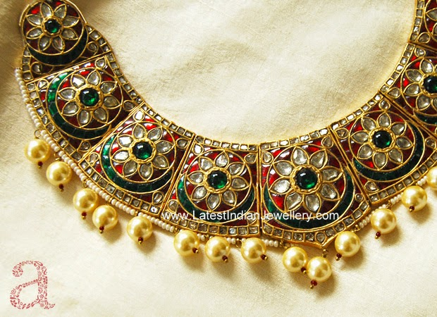 designer indian kundan jadau bridal necklace