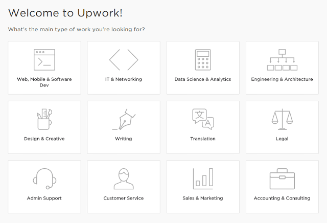 Select your working field | upwork™