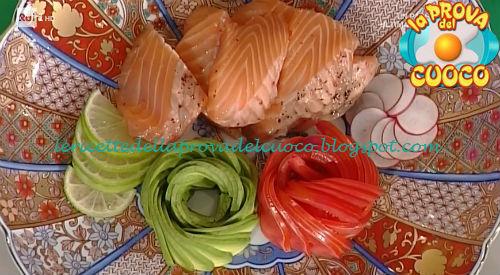 Aburi di salmone al pepe rosa ricetta Shoda da Prova del Cuoco