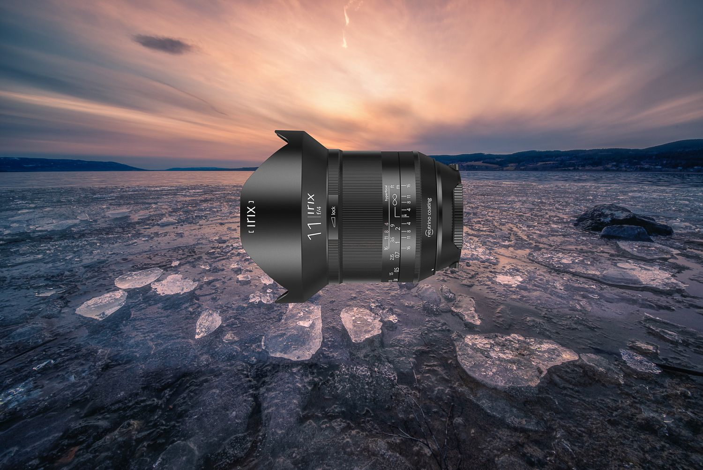 Объектив Irix 11mm f/4 на фоне заката